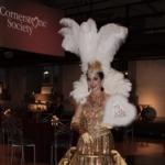 Gold Strolling Drink Skirt, Champagne Diva, St. Louis Entertainment, Strolling Drink Skirt